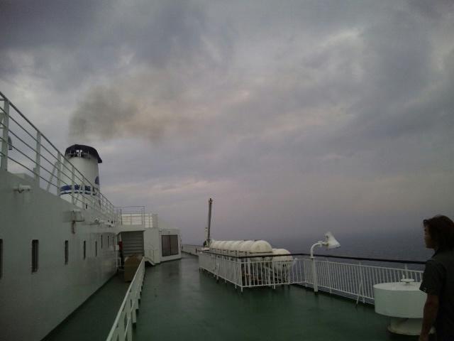 まだ船の上